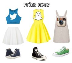 """Diy social media costumes"" by whitney29-1 ❤ liked on Polyvore featuring AQ/AQ, Bebe, Topshop and Converse"