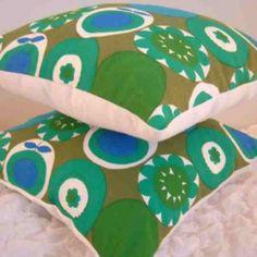 Vintage Scandinavian fabric cute cushions made by Jodi-jo Retro