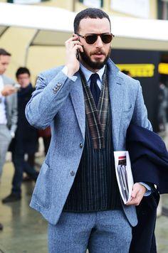 Tartan and ties. Menswear. Men. Fashion. Style