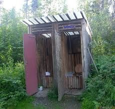 double rustic outhouse cute