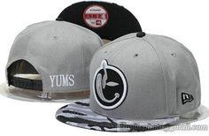 YUMS Snapback Hats Adjustable Caps Gray 253