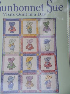 Sunbonnet Sue Visits Quilt in a Day Series by Eleanor Burns Book Needlepoint Patterns, Cross Stitch Patterns, Quilt Patterns, Quilt In A Day, Sunbonnet Sue, Costume Patterns, Cool Patterns, Burns, Doll Clothes