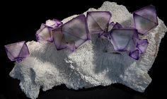 Fluorite on a white matrix of Quartz from De'an Mine, Wushan, Jiangxi Province, China