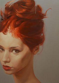 Yury Darashkevich #redhead #portrait