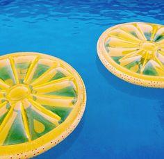 Lemon wedges for the pool...