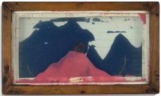 Untitled (Sand Tray with Blue and Pink Sand) - Joseph Cornell