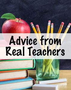 """Pinterest board with a collection of """"Advice from Real Teachers"""" posts that came from answers to common teacher questions on Facebook."""
