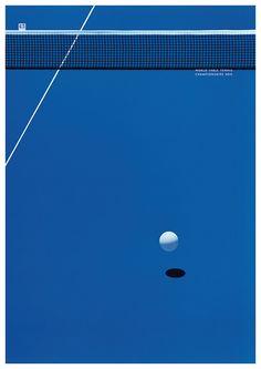 『JAGDA賞2016』受賞作 上西祐理 卓球世界大会のテレビ番組ポスター『世界卓球 2015』(ポスター)