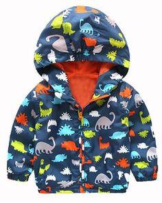 Dinosaur Toddler Boy Windbreaker #babyboycoats