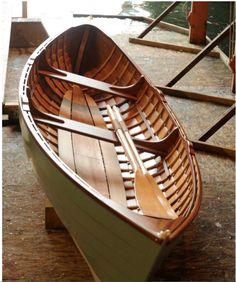 St Lawrence skiff built by Abernethy and Gaudin. Cedar on oak with Mahogany trim
