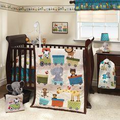 Bedtime Originals Crib Bedding Set Choo Choo for sale online Baby Crib Bedding Sets, Cute Bedding, Nursery Crib, Baby Cribs, Train Nursery, Baby Beds, Girl Nursery, Brown Crib, Wall Borders
