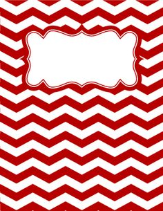 Red and White Chevron Binder Cover