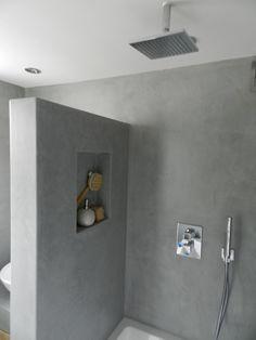 Bildergebnis für nisje in douche Concrete Shower, Concrete Bathroom, Bathroom Toilets, Bathroom Faucets, Concrete Walls, Luxury Bathtub, Bathroom Design Luxury, Bathroom Interior, Modern Bathroom