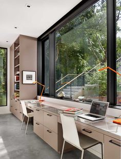 Here are ideas for making a practical home office desk that support double desk at your home office. Let's check at our Double Desk Home Office Design Ideas. Office Space Design, Home Office Space, Office Interior Design, Home Office Decor, Office Interiors, Home Decor, Office Designs, Office Ideas, Office Furniture
