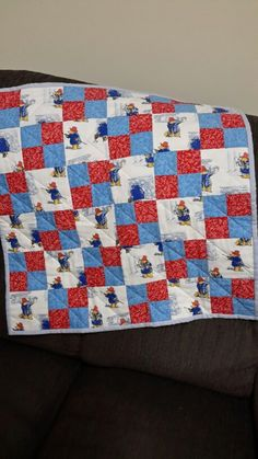 Paddington Bear baby quilt (April 2015)