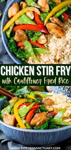 My Chicken Stir Fry with Cauliflower Fried Rice recipe is one of my lighter options for a quick and tasty mid-week meal that satisfies the take-away craving, but without that horrible too-full feeling afterwards! A perfect lunch or dinner option! #chickenstirfry #stirfry #cauliflowerfriedrice Asian Noodle Recipes, Easy Asian Recipes, Baked Chicken Recipes, Indian Food Recipes, Healthy Recipes, Turkey Recipes, Vegetarian Recipes, Dinner Recipes, Cooking Recipes