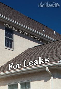 DIY House Maintenance Tip: How to Inspect a Roof for Leaks   The Happy Housewife