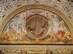 Pontormo, Vertunno e Pomona, villa de' Medici di Poggio, Caiano 1520 Giovanni De Medici, Joseph In Egypt, Ovid Metamorphoses, Giorgio Vasari, Wood Nymphs, Italian Paintings, High Renaissance, Italian Art, Urban Landscape