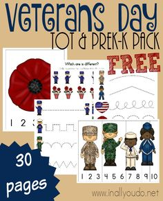 Cart - In All You Do - Little ones can learn about the heroes of our nation (past and present) with this Veterans Day Tot - Community Helpers Preschool, Preschool Education, Homeschool Curriculum, Teaching Kids, Homeschooling, Preschool Learning, Preschool Printables, Preschool Themes, Kindergarten Activities