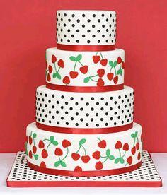 polka dot cherry cake