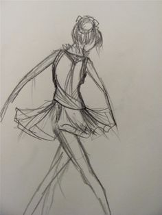 how to sketch ballerina | Well, this is a ballerina.