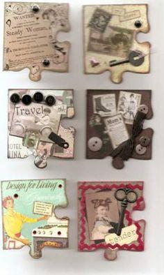 Es increíble la cantidad de maravillas que se pueden crear con piezas de puzzle :)