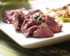 Hanger Steak with Onion Wine Sauce