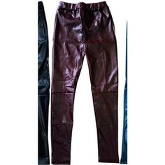 Borough & Locke Faux Leather Patchwork Leggings
