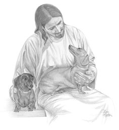 Love this....<3 Especially since these dogs look just like my Sammy and Ludwig, who are with Jesus now.