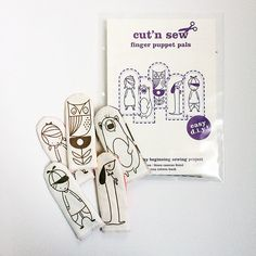Make Your Own Finger Puppet Pals Cut 'n Sew Kit by junecraft