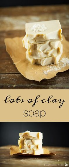 An extra creamy bar of soap that's super luxurious—you have to try it!  10 tbsp white kaolin clay per 500g oils