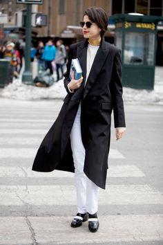 Leandra Medine The Man Repeller New York Fashion Week F / W 2014 #Streetstyle #NYFW