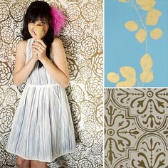9 Gold-Toned Wallpapers For Metallic Design Fans