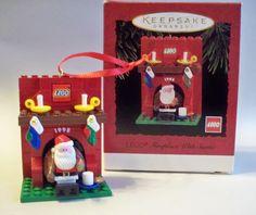 Lego Fireplace with Santa.  Hallmark  Ornament, 1995.