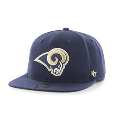 5cc4b2a396f6c Los Angeles Rams Super Shot Captain Light Navy 47 Brand Adjustable Hat