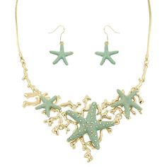 Wish Upon A Starfish Necklace Set