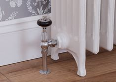 Thermostatic and manual radiator valves for cast iron radiators. Traditional Radiators, Toilet Paper Holder, Chrome