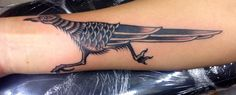 My roadrunner tattoo. traditional // New Mexico