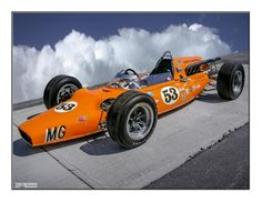 Photograph 1964 MG Liquid Suspension Indy Car by Dave Hughes on Indy Car Racing, Indy Cars, Vintage Sports Cars, Vintage Race Car, Classic Race Cars, Classic Auto, Nascar, Indianapolis Motor Speedway, Old Race Cars