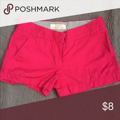 "Magenta J Crew Chino Shorts 3"" J Crew Chino Shorts, 100% cotton. Bundle with other pairs! J. Crew Shorts"