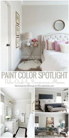 Pale Oak By Benjamin Moore is a balanced and versatile warm neutral griege (gray/beige) paint color that works beautifully in both full or limited natural lighting and artificial lighting. Read more (plus more great paint colors) from The Creativity Excha Beige Paint Colors, Room Colors, Bedroom Paint Colors, Bedroom Colors, Interior, Bedroom Paint, Living Room Paint, Room Paint, Home Decor