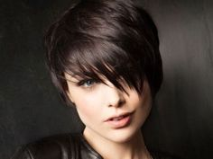 Ladies Short Hairstyles for Thick Hair: Full Bangs