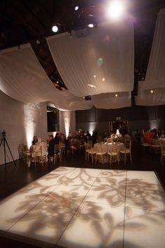 Inspiration:Cool gobo on dance floor. Courtesy Phindy Studios.
