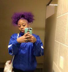 Dying My Hair, Love Hair, Baddie Hairstyles, Pretty Hairstyles, Teen Girl Hairstyles, Dyed Natural Hair, Dyed Hair, Hair Color For Black Hair, Purple Hair