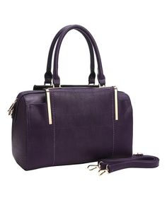 Look what I found on #zulily! Eggplant Round-Shoulder Satchel #zulilyfinds