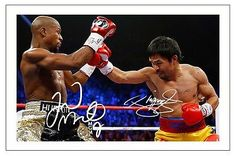 Floyd mayweather jr & manny pacquiao #boxing signed #autograph photo #print ,  View more on the LINK: http://www.zeppy.io/product/gb/2/222016093050/