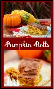 Pumpkin Rolls combines the ease of refrigerated crescent rolls as crust with a pumpkin cheesecake filling and crunchy cinnamon topping for an autumn dessert
