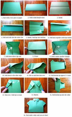 Father's Day Card: Origami Shirt & Tie Tutorial