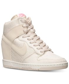 Nike Women's Dunk Sky Hi Textile Casual Sneakers from Finish Line - Kids Finish Line Athletic Shoes - Macy's
