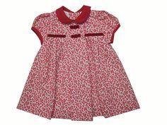 Vestido para niña de viyela en estampado de colores